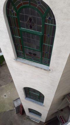 Denkmalgeschützte Fenster nach Sanierung